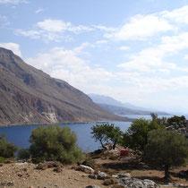 Kreta: Blick auf die Bucht von Loutro
