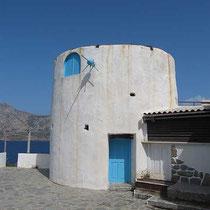 Windmühle am Nordende des Hafens