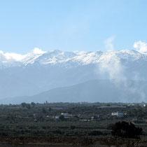 ...eine tolle Aussicht auf die Weißen Berge...