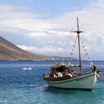 Kreta: Fischerboot in Loutro
