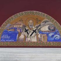 Mosaik an der Kirche