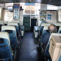 Der passagierraum - abgasgeschwängert
