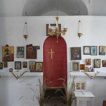 Die einzige geöffnete Kapelle der Insel