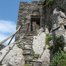 Treppe mit Tor