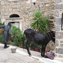 Der Esel wird geparkt