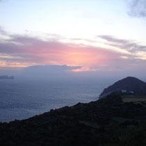 Milos: Sonnenuntergang