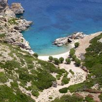 Saria: Blick auf die Bucht von Palatia von Agios Zacharias aus