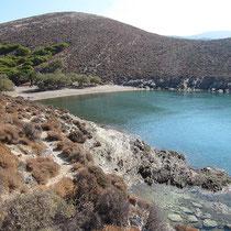 Die Bucht von Gria Spilia
