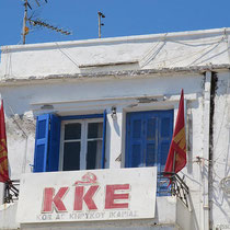 KKE - immer noch Hammer und Sichel...