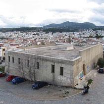 Gebäude an der Fortezza, früher war hier das archäologische Museum drin