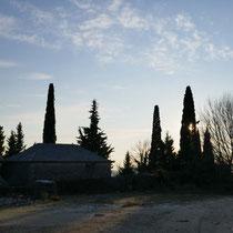 Wieder am Friedhof