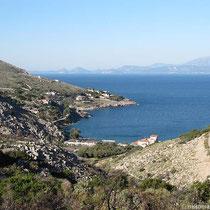 Blick auf die Bucht von Mandraki