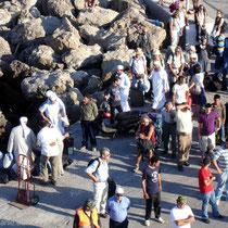 Karpathos: Passagiere in Pigadia
