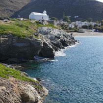 Am östlichen Strandende von Korissia: