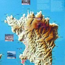 Inselkarte am Hafen