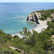 Blick auf den Strand von Papa Minas