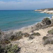 Am Strand von Agios Theologos