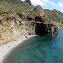 Unzugänglicher Strand