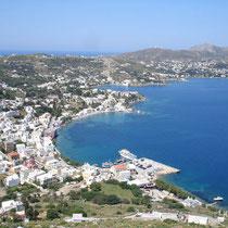 Leros: Blick auf Agia Marina und Alinda