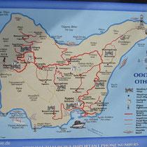 Karte von Othoni - am Ortseingang angebracht