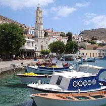 Chalki: Am Hafen