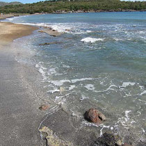 Mare Calda, im Hintergrund Vulcanello