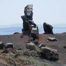 Merkwürdige Steinformation am Abstieg
