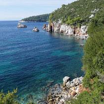 So sieht Küste auf Skopelos aus: