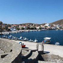 Der Hafen von Psara..
