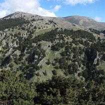 Blick auf die Berge um Imbros