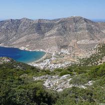 Kamares und Agia Marina, dahinter Profitis Ilias Troulakiou und Agios Simeon