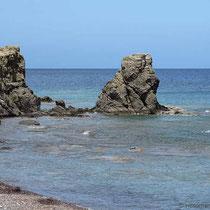 Felsen beim Strand
