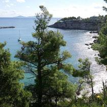 Blick entlang der Bucht