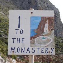 Zum Kloster ist richtig