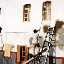 Tilos: Vorsaison - Malerarbeiten