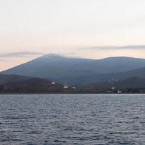 Der Profitis Ilias wie ein Vulkan