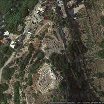 Minoische Siedlung Petras aus der Luft - Google Earth