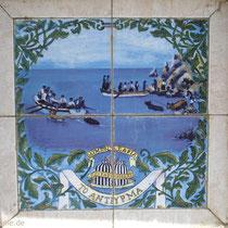 Karpathos: Saria-Detail am Neptun-Brunnen