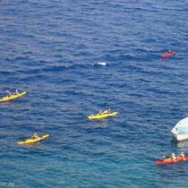 Kreta: Kanupaddler bei Finix