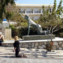 Tinos: Wallfahrer zur Panagia-Kirche