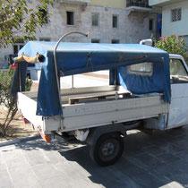 Es gibt überraschend viele Dreiräder auf Syros