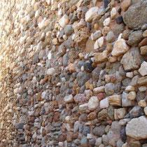 Die Wand des Wasserspeichers