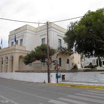 Das Gebäude mit dem archäologischen Museum