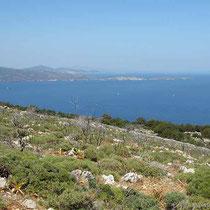 Blick zur Peloponnes