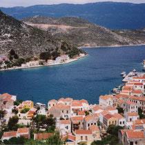 Kastellorizo: Blick auf die Hafenbucht