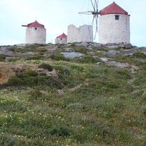 Amorgos: Windmühlen oberhalb von Chora