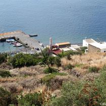 Blick auf den Anleger von Pecorini a mare