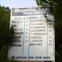 Rhodos: Taxipreise ab Kamiros Skala