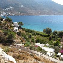 Über dem Levressos-Strand