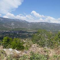 Blick auf die Kotylea-Berge